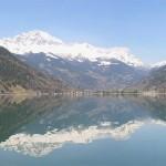 Vedere peste lacul Poschiavo